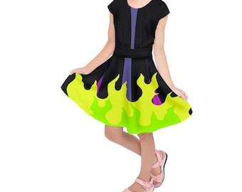Kid's Maleficent Sleeping Beauty Inspired Short Sleeve Dress