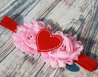 Valentines day headband - pink bow - red bow - baby headband - valentines bow - red headband - pink headband - hot pink bow