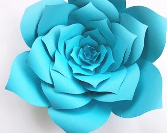 DIY Baby Shower Decor Paper Flowers, Baby Shower How To Paper Flower, Paper Flower Template Instructions