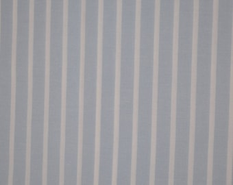 Blue and white striped 100% cotton