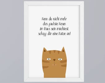 Create cat - unframed art print