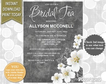 Bridal Shower | Bridal Tea, Tea Party, Bridal Shower Invite, Bridal Tea Party, Bridal Tea Invite, Printable, Invitation, Bridal Shower Tea