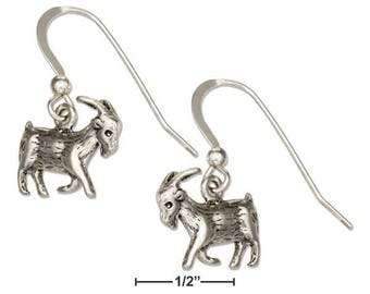 Sterling Silver Billy Goat Earrings | Goat Lover Gift, 3D Goat Jewelry, Farm Girl Gift, Farm Animal Jewelry, Nanny Goat Billy Goat Gruff