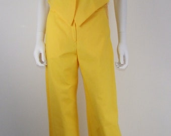 Trousers and jacket in cotton
