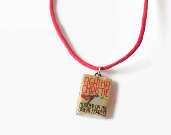 Agatha Christie - Murder on the Orient Express mini book necklace