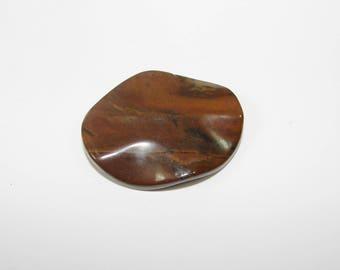 1 Pearl, Jasper artistic Brown puck 40.00 30.00 mm, sold individually. (9791034)