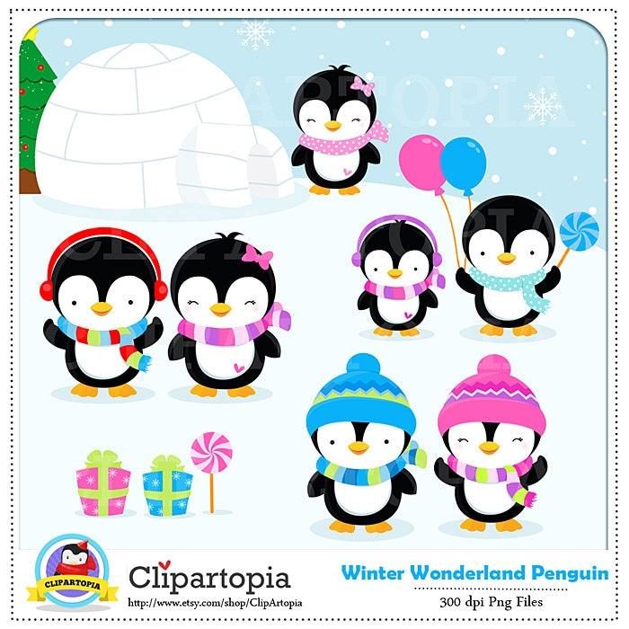 penguin clipart winter penguin wonderland digital clipart rh etsystudio com winter wonderland background clipart christmas winter wonderland clipart