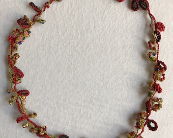 Embroidery Beaded necklace