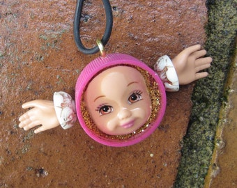 Pink Angel - Kelly  Doll Face Pendant