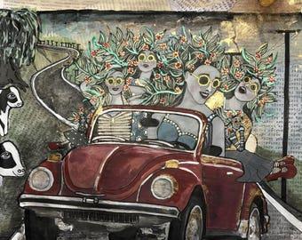 "Art Print "" Road Trip"""