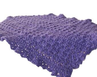 Crochet Baby Afghan, Purple Blanket, Purple Afghan, Doll Afghan, Baby Blanket, Crochet Baby Blanket, Purple Baby Blanket, Crib Blanket,