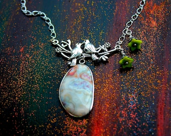 The Birdsong Necklace- Genuine Jasper Stone Necklace