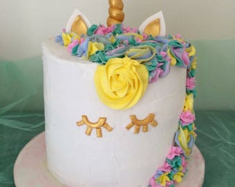 Unicorn cake topper sets