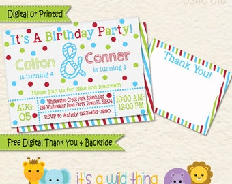 Brothers Combined Party Invites, Boys Combined Party Ideas, Shared Party Invitations, Dual Party Invites, Joint Party Ideas, Friend Birthday