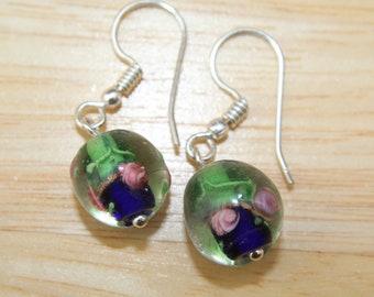 Lamp work Earrings, Small, Petite, Teens, Gift, Minimalist, Casual, Daughter,