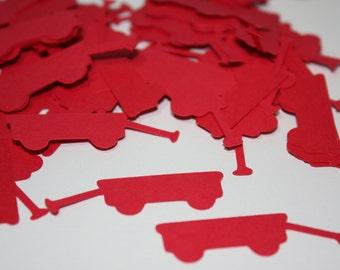 200 pieces Little Red Wagon Die Cut Confetti