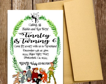 Peter Pan and the Lost Boys Printable Digital File Invitation