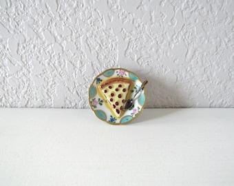 Unique Ring Box, Limoges France, Limoges Trinket, Limoges Box, Limoges Miniature, Trinket Box Vintage,Pie Lover,Miniature Limoges,Peint Main