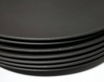 Wedgwood black basalt coupe luncheon plate.