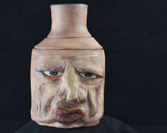 Stoneware Pottery Ugly Face Jug