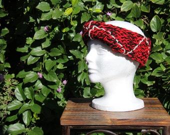 Black & Red Twist Headband