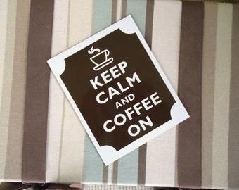Keep calm coffee on magnet