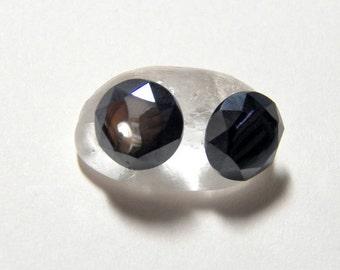 10mm Faceted Hemalyke Gemstone Post Earrings with Sterling Silver