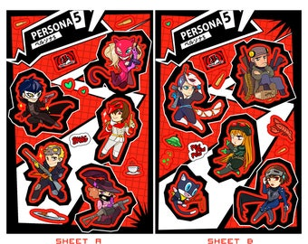 Persona 5 Sticker Sheet Set