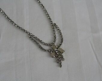 Vintage Baguette Rhinestone Necklace