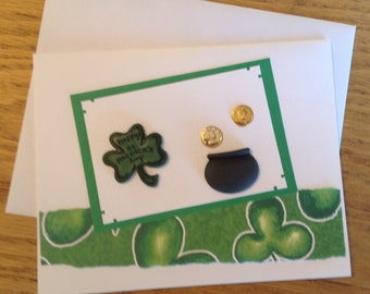 Happy St. Patrick's Day Handmade Card