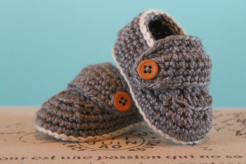 CROCHET PATTERN PDF Crochet Baby Boy Booties Boy Loafers