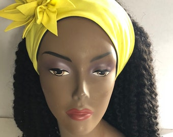 Yellow Flower Headband For Your Frizzy Hair or Unruly Edges