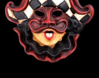 Venetian Mask | Black & White Harlequin