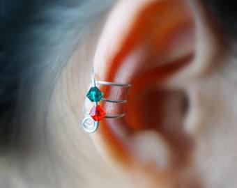 102)Christmas Ear Cuff II