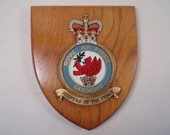 Royal Air Force RAF Germany Plaque