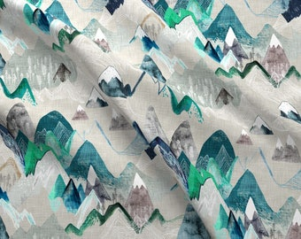 Mountain Fabric - Call Of The Mountains By Nouveau Bohemian - Mountain Adventure Camping Rustic Cotton Fabric By The Yard With Spoonflower