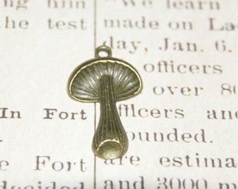 Great metal color mushroom charm bronze 34x20mm