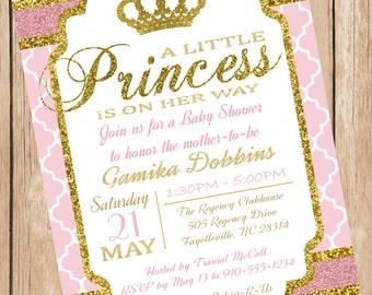 Royalty Princess Baby Shower Printable Invitation