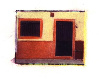 Casa Naranja -  Archival Print of an Original Polaroid Transfer, Signed Limited Edition 8x10 Matted