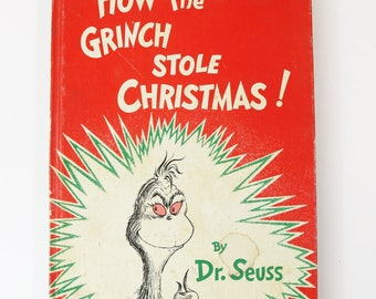 How The Grinch Stole Christmas By Dr. Seuss-1957 Hardcover