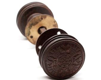 Antique Bronze Corbin Gothic Knob Set