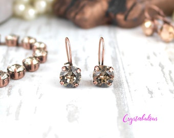 Dark Crystal Earrings, Crystal Earrings, Swarovski Earrings, Dangle Earrings, Drop Earrings, Bridesmaid Earrings, Party, Fashion, Gift.
