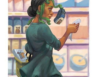 Modern Myths Medusa  • fine art print • illustration • mythology • snakes