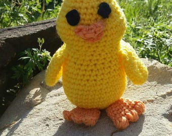 Crocheted chick, Stuffed baby chicken , chicken