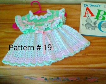 Crochet baby dress pattern Baby hat pattern Baby Crochet pattern for baby girls Crochet baby pattern for girl babies.