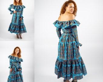 African print maxi dress long dress