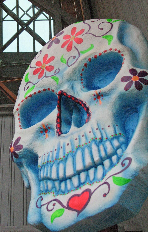 Giant Sugar Skull Day of the Dead Dia de los Muertos