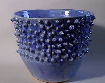 Spikey Blue Bowl, ceramic bowl, clay bowl, fruit bowl