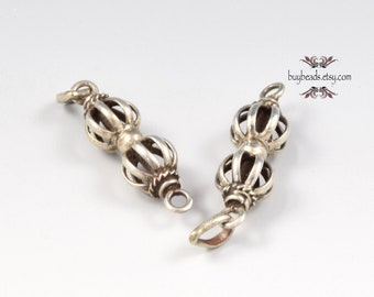 Sterling Silver Double Cage Beads (2)