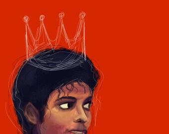 King of Pop Poster Print Michael Jackson Art Michael Jackson Painting Digital Art MJ Poster Michael Jackson